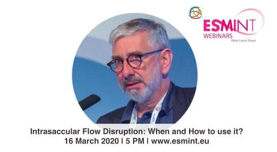 Laurent Pierot: Intrasaccular flow disruption webinar