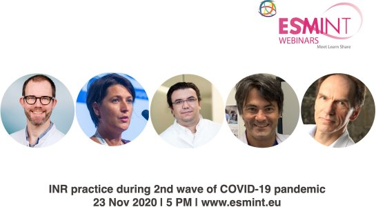 Webinar about INR and COVID-19.