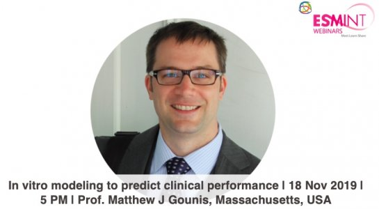 "Webinar ""In vitro modeling to predict clinical performance"" with Matt Gounis."