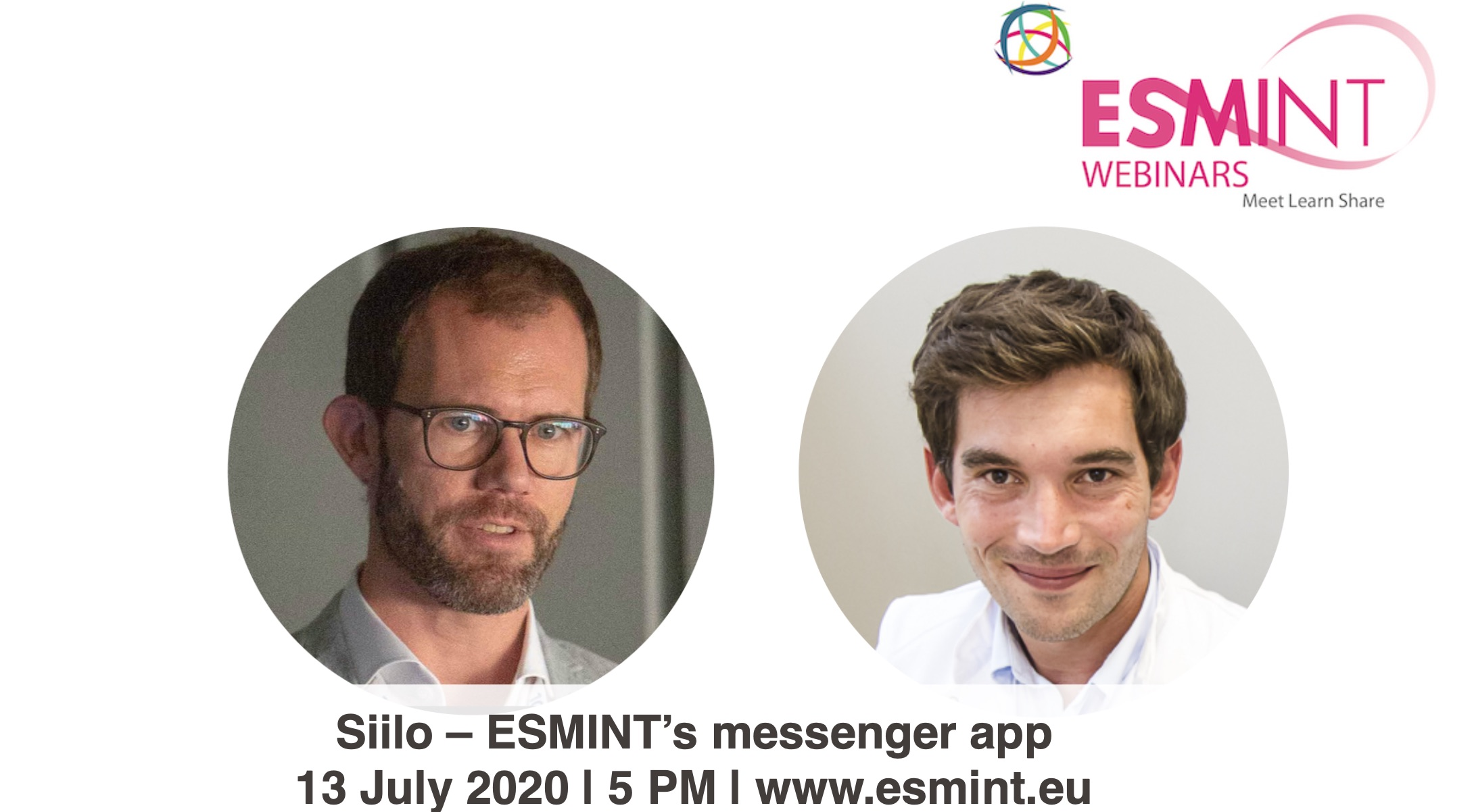 Webinar about Siilo with Buhk and Rouchaud.