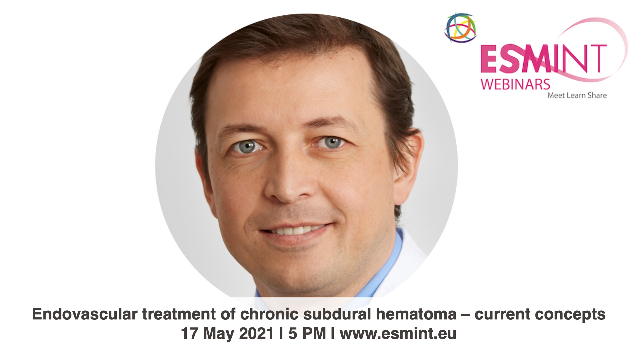 ESMINT Webinar with Zsolt Kulcsar about chronic subdural hematoma.